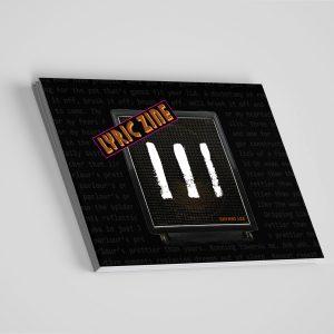 EP Lyric Zine stacked